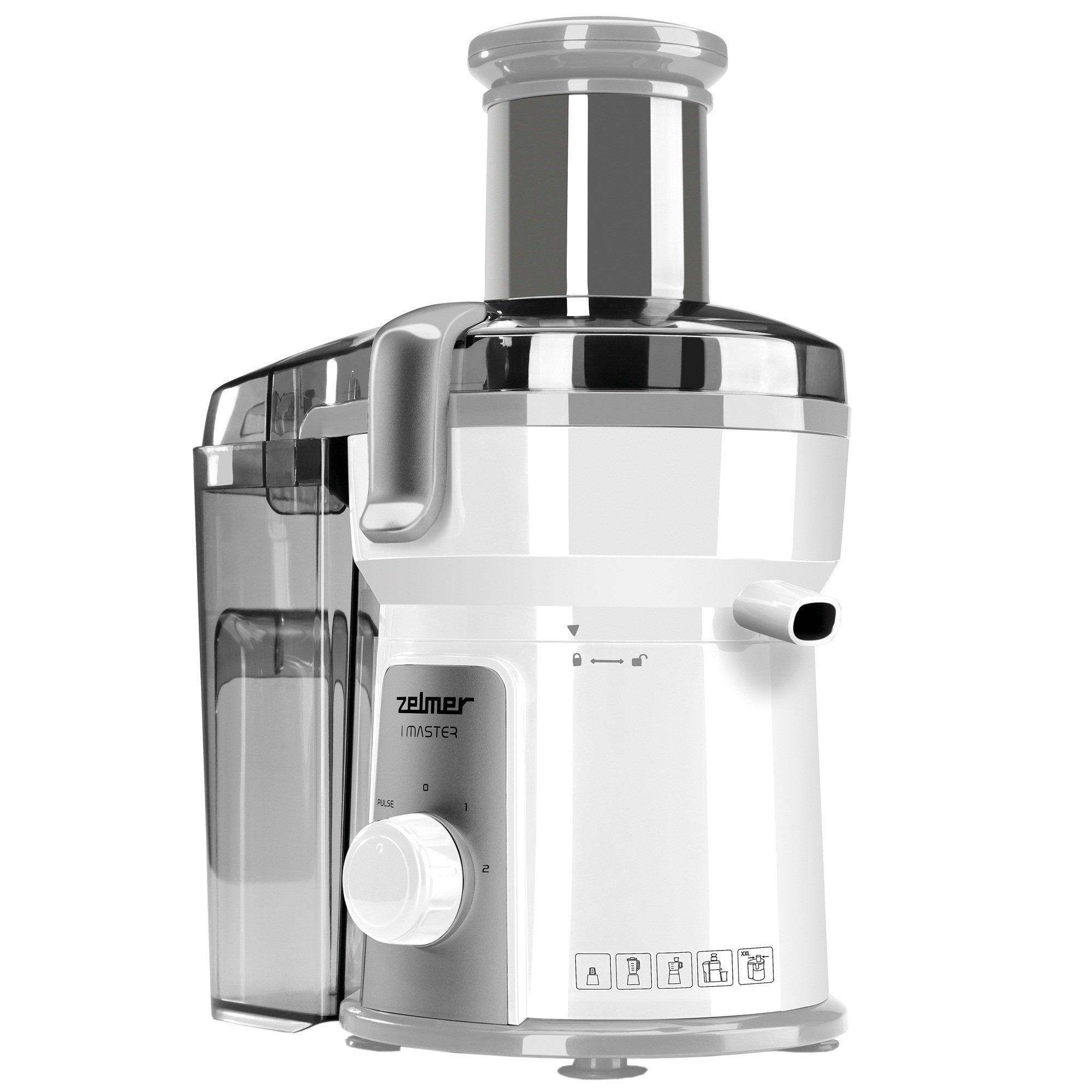 Zelmer JE1200.5 - juice makers (White, Plastic, Stainless steel)