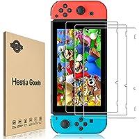 Verre Trempé Nintendo Switch [3 Pièces] Protection d'écran Nintendo Switch - sans Bulles, HD, Anti-Fissures, Dureté 9H…