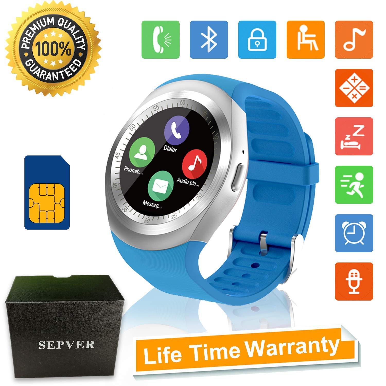 361810c7c35b Reloj Inteligente Smartwatch Redondo con Podómetro de Pantalla Táctil con  Ranura ...