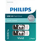 Philips Lot de 2 Ports USB 3.0 - 32 Go - Édition Vivid Grey