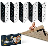Rugistic 10 Pcs Rug Grippers for laminate floor 130 x 25 mm – Washable & Reusable Carpet Grippers strips – Compatible…