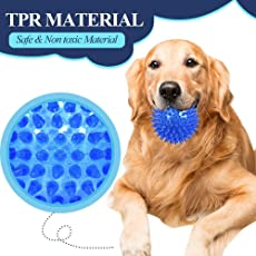 PET Dog Chewing Toy Ball Puppy Teething and Training Toys Non-Toxic (Without Sound) for Small Medium Breeds Play 1 Ball -Color May Vary