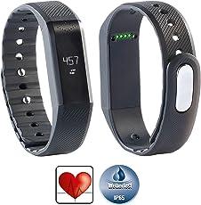 Newgen Medicals Fitnesstracker mit App: Bluetooth-4.0-Fitness-Armband FBT-55.w mit Nachrichten-Anzeige (Fitnesstracker mit Apps)