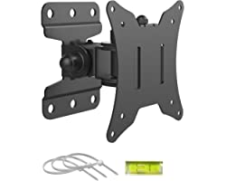 BONTEC Monitor Wall Mount for 13 - 30 inch Screens, Full Motion TV Wall Mount Bracket LCD LED 3D Curved Plasma Flat Screen TV