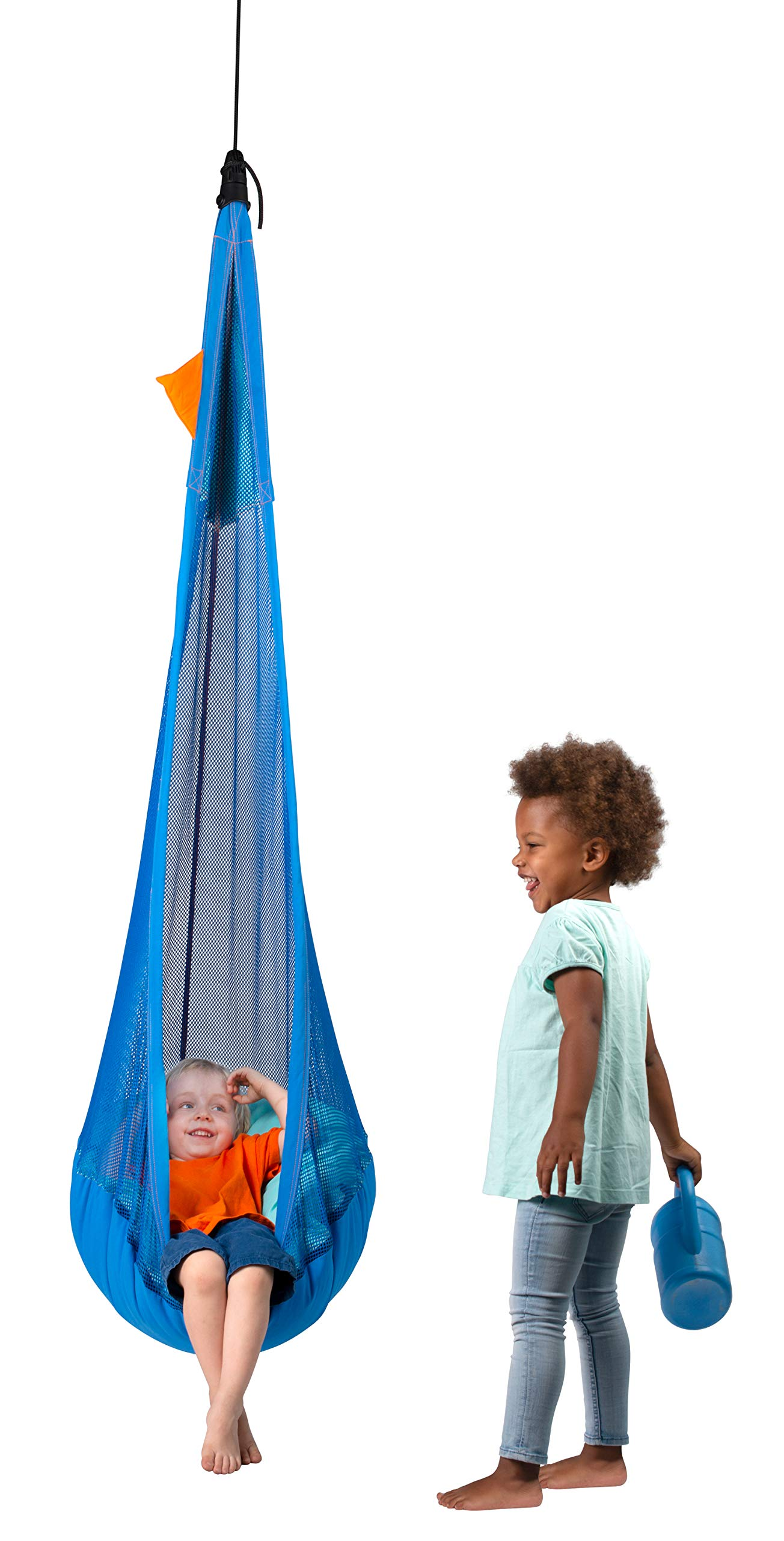 LA SIESTA - Joki Air Moby - Max Organic Cotton Kids Hanging Nest Bean Bag with Integrated Suspension La Siesta The new generation of our hanging nests for children not only has a modern design, but also sets new standards in terms of safety. The smart fixingset is already included in the purchase price The extra padded selvedges reduce wear and are pleasantly soft / Hanging Nest for children from 3-10 years The safety swivel prevents the hanging nest from being twisted in and thus not only guarantees great safety, but also durability. The SmartSwivel makes it easy to remove the new Joki and adjust its height in one simple step 3