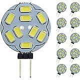 Pocketman t Dimbare G4 LED-lampen, 20W vervanging voor halogeenlamp, DC 12V 200LM G4 LED-lampen, 10-pack, koudwit [energiekla