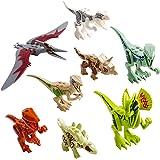 Dinosaurier Spielzeug Bausteine, Mini Dinosaurier Spielzeug Spielset Tier Pädagogische Kits für Kinder 8 Stücke