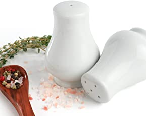 "Urban Snackers Titan Pepper & Salt Pot 3""/8 cm, White Porcelain Pot, For Dining Table, Kitchen and Hotel"