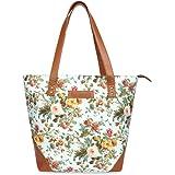 Sakwoods Canvas Floral Printed Womens tote Bags