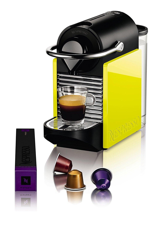 Krups-Nespresso-Pixie-Clips-XN3020-Kaffeekapselmaschine-07-Liter-schwarz-und-electric-lemon-Zertifiziert-und-Generalberholt