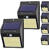 Hepside Luz Solar Exterior,【6 Pack / 3 Modos】Luces LED Solares para Exteriores, 800 Lumens Focos LED Exterior Solares, Luces