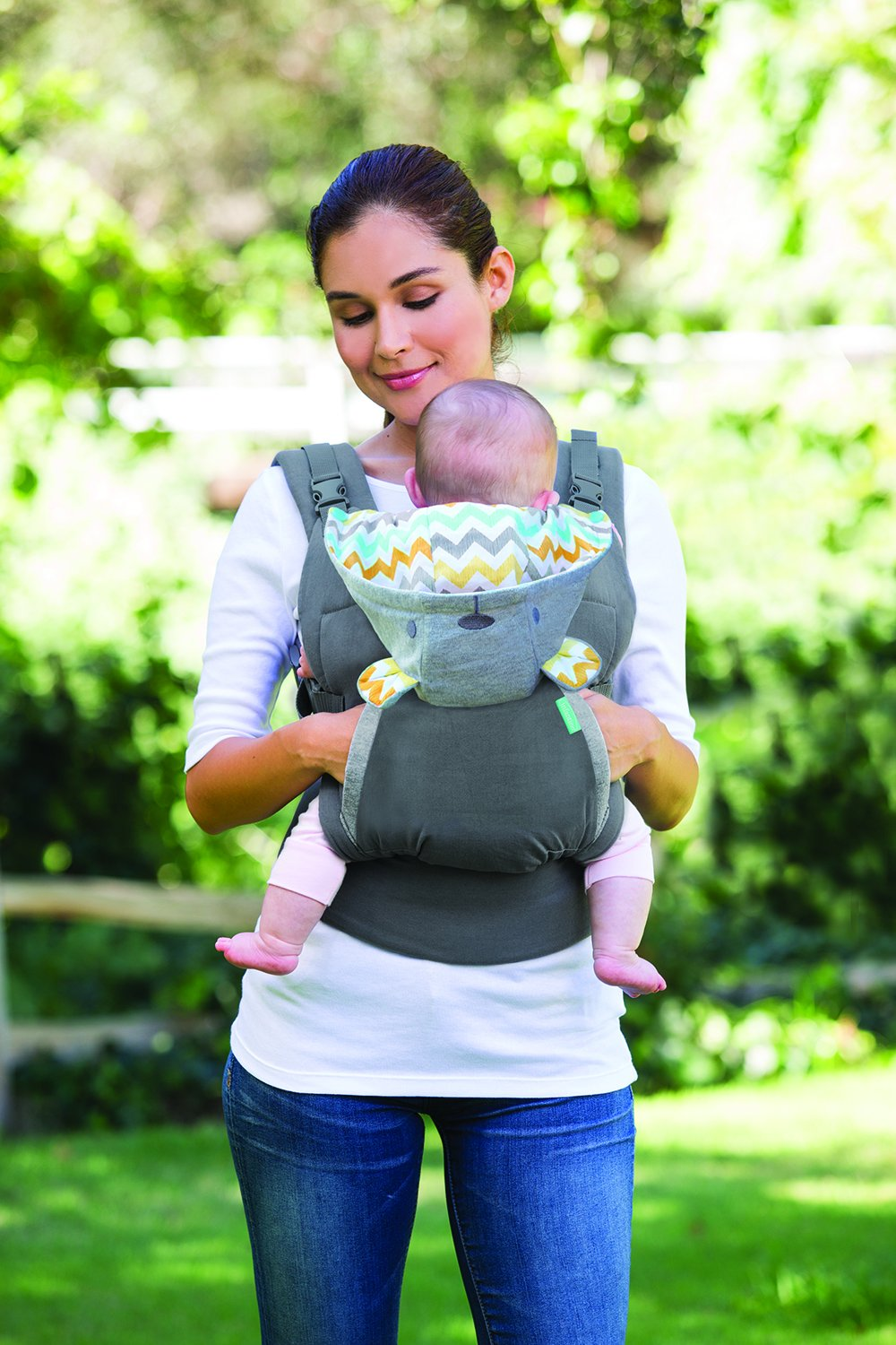 Infantino Cuddle Up Ergonomic Hoodie Carrier, Grey Infantino Fully safety tested Carries children from 12-40lbs (5.4 - 18.1 kgs) 11