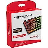 Touches HyperX Pudding - Jeu Complet - PBT - {Noir} - Disposition Anglais américain - 104 Touches, Rétroéclairage, Profil OEM
