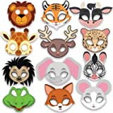 Party Propz Animal Eye mask -12 Pieces for Jungle Birthday Theme Decoration