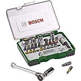 Bosch 2607017160 27-Delige Schroefbit- En Ratelset (Extra Harde Kwaliteit, Accessoire Schroefboormachine En Schroevendraaier)