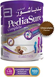 PEDIASURE COMPLETE AND BALANCE NUTRITION CHOCOLATE FLAVOUR FORMULA MILK FOR 1-10 YEARS OLD - 900G