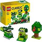 مجموعة المبتدئين التعليمية بتصميم مكعبات بناء خضراء ابداعية كلاسيكية طراز 11007 من ليغو، لعبة لما قبل المدرسة للاطفال من سن 4