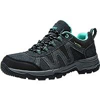 riemot Mens Womens Hiking Shoes, Lightweight Breathable Waterproof Non-Slip Walking Shoes, Low Cut Hike Trekking Shoes…