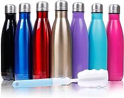 Sfee 500ml Doppia Parete in Acciaio Inox coibentato Bottiglia di Acqua, Mantiene Il Vostro Bevanda Calda & Fredda...