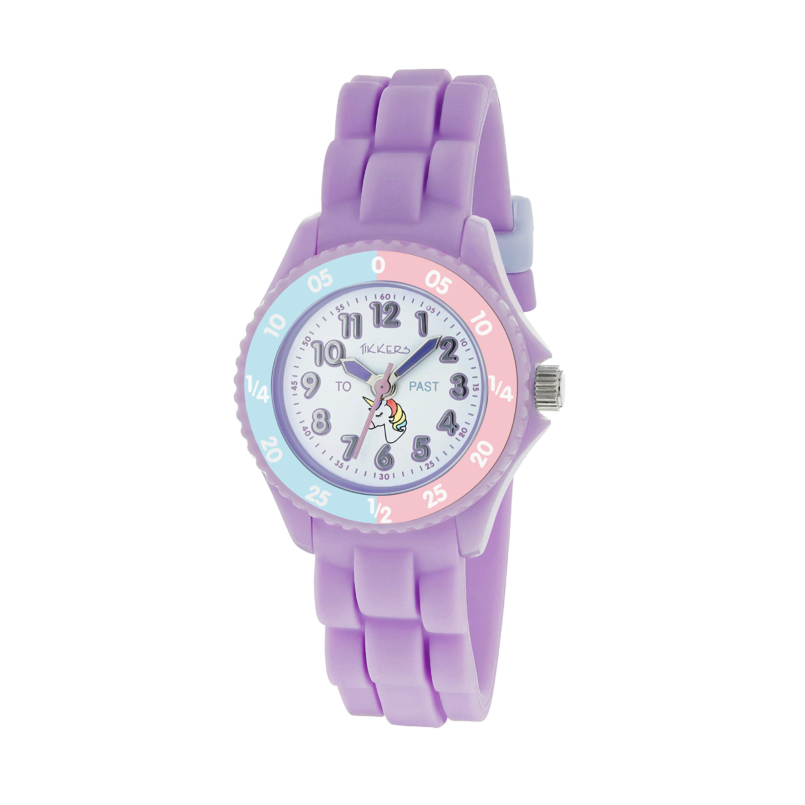Tikkers Girls Analogue Classic Quartz Watch with Silicone Strap TK0147