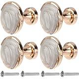 DOITOOL 4 stuks ronde decoratieve kastknoppen eenvoudige vintage knoppen ladekast laden knoppen en handgrepen kledingkast han