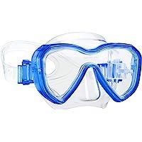 Dorlle Kinder Taucherbrille Tauchmaske,Anti-Fog und Anti-Leck Schnorchelbrille Schwimmbrille Wasserdicht Tempered Glas…
