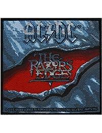 AC/DC Badges The Razors Edge–Patch tissé 10x 10cm