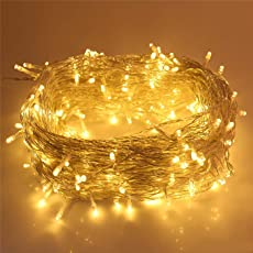 CurioCity Rice String LEDs with 8 Pattern Operation - Golden Color