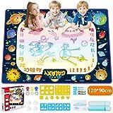 JOYSPACE Acqua Doodle Tappeto 120 *90cm Tappeto Magico per Bambini Acqua Doodle Tappetino da Disegno Coloro Regalo Magici e G