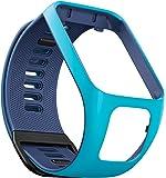 TomTom - Bracelet pour Montre TomTom RUNNER 3, SPARK 3, RUNNER 2 & SPARK - Taille Fin - Bleu Clair/Bleu Marine