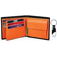 TEEHON® Portafoglio Uomo Slim Vera Pelle Blocco RFID, con Tasca Portamonete, 2 Scomparti Banconote, 8 Porta Carte di…