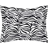 """Linenaffairs 100% Cotton Oxford Pillow Cover (Set of 2) - 400 Thread-Count,Soft, Smooth and Wrinkle Free (18"""" x 28""""_Zebra Print)"""