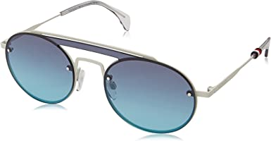 Tommy Hilfiger Unisex's TH 1513/S JF Sunglasses, Beige White/Blue, 99