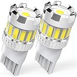 BEAMFLY T10 W5W LED Canbus Lampadine, Luci di Posizione, Luce Targa Auto, Lampada Tettuccio, 12V, 6500K Bianco, 2 Pezzi