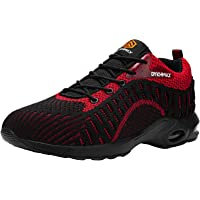 DYKHMATE Air Cushion Safety Trainers for Men Women Puncture Resistant Steel Toe Cap Safety Shoes Lightweight Breathable…