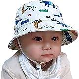 Tyidalin Sombrero de Sol para Niños Bebés Verano Algodón Ajustable Pescador Gorra Protección de Sol Anti UV