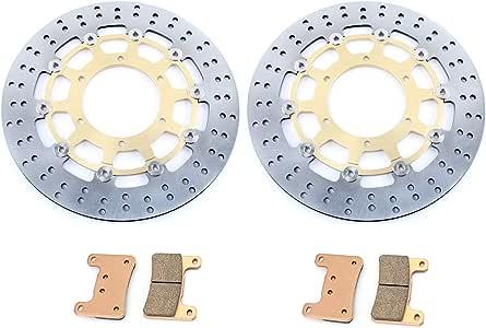 TARAZON per S.u.z.u.k.i GSXR 600 750 08-10 K8 K9 GSXR1000 09-11 Dischi Disco Freno Anteriore E Pastiglie Kit