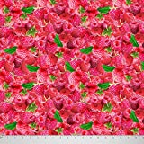 Soimoi Reine Seide 44 Zoll Breit Craft Fabric-Rosa-Erdbeere