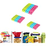 ZooY 18 Pcs Plastic Food Snack Bag Pouch Clip Sealer for Keeping Food Fresh for Home Kitchen Camping Snack Seal Sealing Bag C