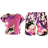A2Z 4 Kids Kids Girls T Shirt /& Cycling Shorts Tie Dye Print Neon Pink Trendy Fashion Summer Outfit Short Sets New Age 7 8 9 10 11 12 13 Years
