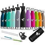 AORIN Waterfles,350/500/750 ML,Everyday Drinkfles BPA-Vrij,Houdt 24+ uur koud, 12 uur warm,Ideale Sportbeker voor kinderen, S