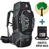 Adventure 4 Life - Trekkingrucksack 60L für Damen & Herren - Wanderrucksack für Outdoor - Camping - Travel und Backpackers