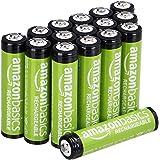 AmazonBasics AAA oplaadbare AAA-batterijen verpakking van 16 stuks 800 mAh voor-opgeladen