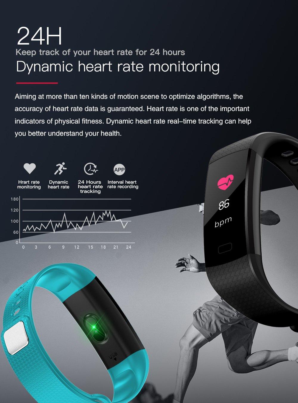 Pulsera Actividad Reloj Inteligente Fitness Tracker Multifuncional Cuenta Pasos CaloríAs, Smartwatch Fitness Tracker Para Hombre Y Mujer 5