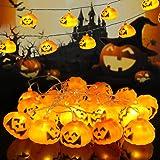 WNIPH Halloween ljusslinga pumpa 3 m 20 LED dekoration ljus för hus inomhus utomhus trädgårdar träd halloween festival jul ba