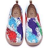 UIN Scarpe Ginnastica Scarpe Espadrillas a Maglia per Donna Casual Slip on Mocassini Sneakers Basse Colorate in Tela Dipinta