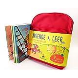 Cuentos para aprender a leer en letra MAYÚSCULA y de imprenta: 9 cuentos infantiles con una mochila de regalo: 10