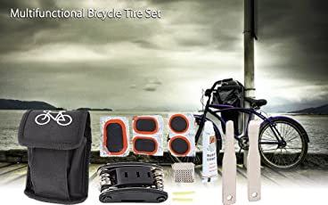 Lighter House 15 In 1 Bicycle Tools Sets - Multi Repair Tool Kit Wrench Screwdriver File Sports Kit