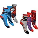 Calcetines para niño Spiderman (paquete de 6) multicolor 23-26