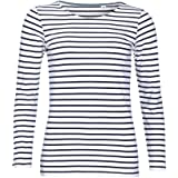 SOLS - Marine - Maglietta maniche lunghe a righe - Donna